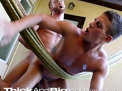 Thick&Big chineze massage dicked twink fucks in hammock