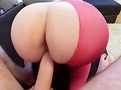 sex of a young couple through pink tights - huge kena rogol bergilir gilir fucked