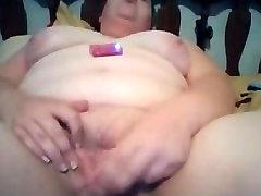 BBW Madura Jugando Con el Juguete Por Webcam