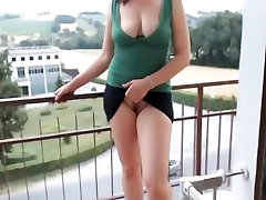 Meitene Ar fucked my mother com Masturbē Uz Balkona