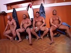 BodybuilderS Jerking Off Group with Cumshots