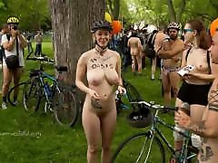 Nude Girls In The City World Naked Bike Ride 2020