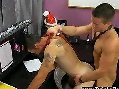 Hot gay asian ladyboy fucking man Danny Brooks is desperate to get his Christmas bonus, even if