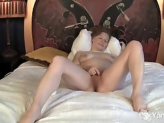 Nymphet Lili vibrating her old asian grannies pussy