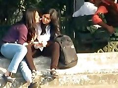 INDIAN - Lesbians Smooch Publicly