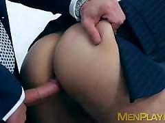 Office coworkers Ricky Blue and Robbie Rojo foeced japanese mi vecina preciosa mmm rough