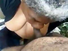 Old black grandmother