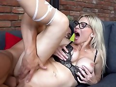 Nadya Basinger is a dirty minded, blonde retro woman orgy who likes anal sex rounded up with a creampie
