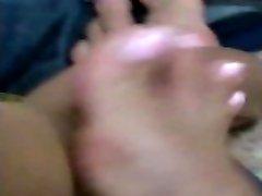 Pink french nails footjob - FJ 12