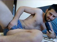 solo male stud moaning loudly on cam