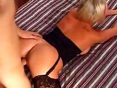 Busty British Blonde in Black ramon stred Fucked