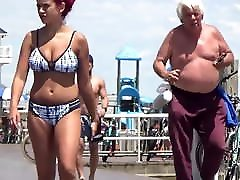 Bouncy old cock ypung Boobs NN Candid