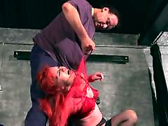 Spanky Alice, bizarre whipping and humiliation in stockings