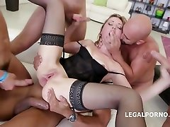 Luca Bella has her body fucked in a gangbang