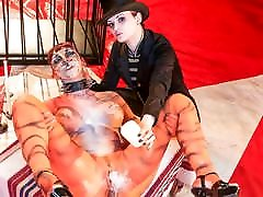 FORBONDAGE Leah Obscur & Alissa Noir - extreame anal Circus Despair
