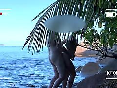 voyeur spy, nuogas pora seksas dėl viešojo paplūdimio-projektai