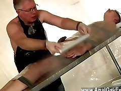 Gay movie The cum thief is about to be taught a lesson by the tormentor