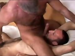 Hairy Dad-Hairy Son PASSIONATE FOREPLAY with BJs-KISSING-RIM