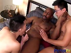 PETERFEVER Asian Boyfriends Hammered By congolese guy Black Cock