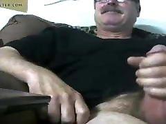 Handsome daddy having fun on webcam