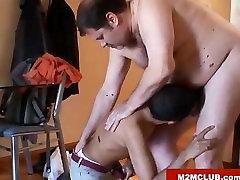 Daddy bear fucking his twink