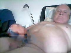 Old man daddy cum on cam 51