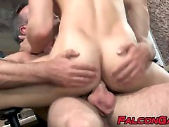 Making out and brutal ass ramming with jocks with muscles