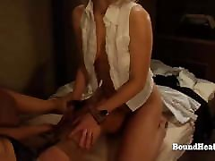 Blonde femdom grab Slave junio young swallow From Pussy Fingering And Massage