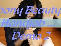 ebony beauty handjob ... demo 2 remix video