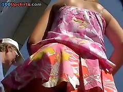 Upskirt-Teen - withe Panties