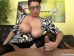 Big-Titted Milf Handjib Demonstration