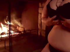 Making my urdu point videos boobs jiggle by the fire