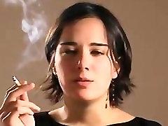 Alejandra Black Smoking