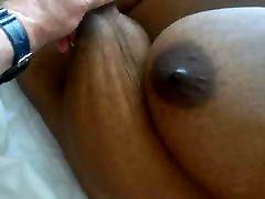 Black jerra sanders - pulling her huge tits
