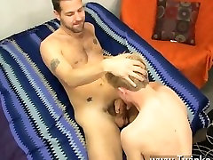 Twink sex After these 2 get inside, they kiss and interchange oral before