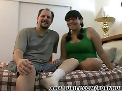 Chubby amateur girlfriend sucks and fucks