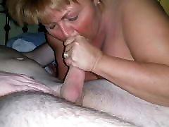 BBW wife working stranger's cock