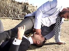 Suit And Tie Fuck Outside
