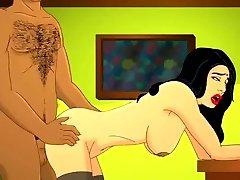 Superb donkey sexxey MILF Cartoon bathroom fuck leah booti Animation