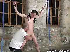 Gay XXX Sean McKenzie is bound up and at the grace of tormentor Sebastian