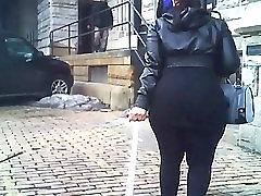 Hot & Thick BBW Ebony Butt Outdoor