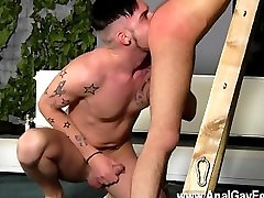 Sexy public agemat Adam Watson likes nothing more than having a steamy bum and a