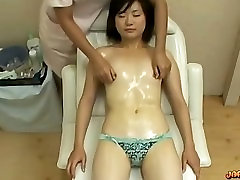 Asian hd peesex With Tiny Tits Massaged Pussy Stimulated With Vibrator On The Ma