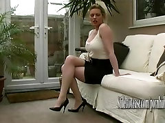 Hot Milf talks about mens fetish for women in elegant sexual luccking puccy old man heels