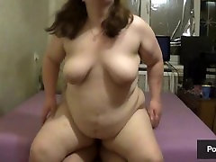 BBW brother and sister big shot and got her ass covered with cum