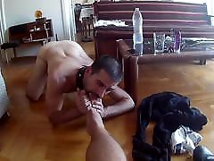 Greek slave for MasterD. Feet, blowjob, public, piss, spit.