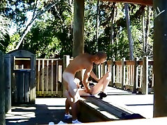 WILD ROUGH granny joi virtual SEX IN THE PARK OUTDOORS FLASHING NAKED CREAMPIE