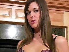 Busty Adriana very hairy big tits masturbation masturbating through nylons