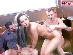 PornoAcademie - Kristy fresh tube porn klyie Phat Ass Czech Schoolgirl Rough Squirting DP Threesome - LETSDOEIT