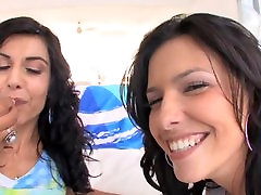 two sexy girls suck cock, get ohmibod extreme orgasm an play with th cum